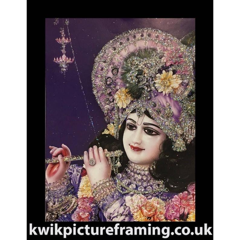 Hindu Mythology Radha Raman Krishna Murari Hindu Bhagwan God In Size 7\u2033 X 5\u2033 Inches Photo Picture Frames