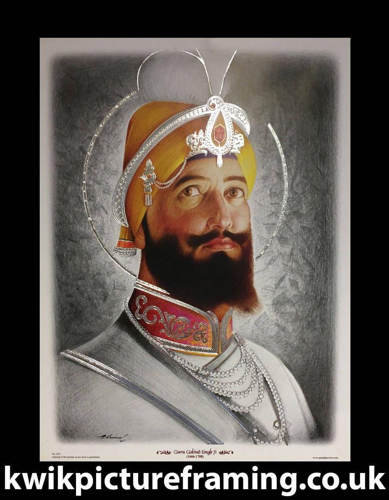 Indian Religious Photo Frames Sikh Gurus Religious Photo Picture Frames Sikhism Guru Gobind Singh Ji 12\u2033 X 9\u2033 Inches