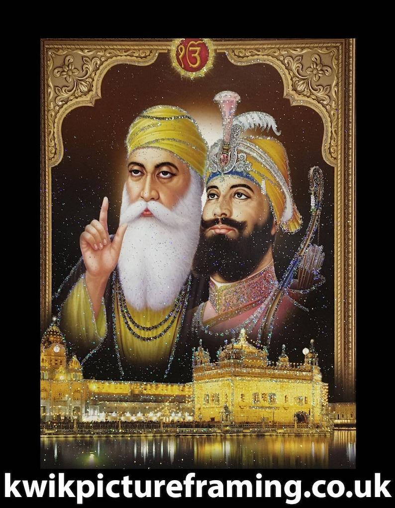 Frame Siri Guru Gobind Singh Ji Print Poster Picture Sikh Sikhism Life