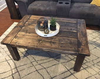 Bon Rustic Coffee Table **Ships Nation Wide** Custom ** 5 Size Options