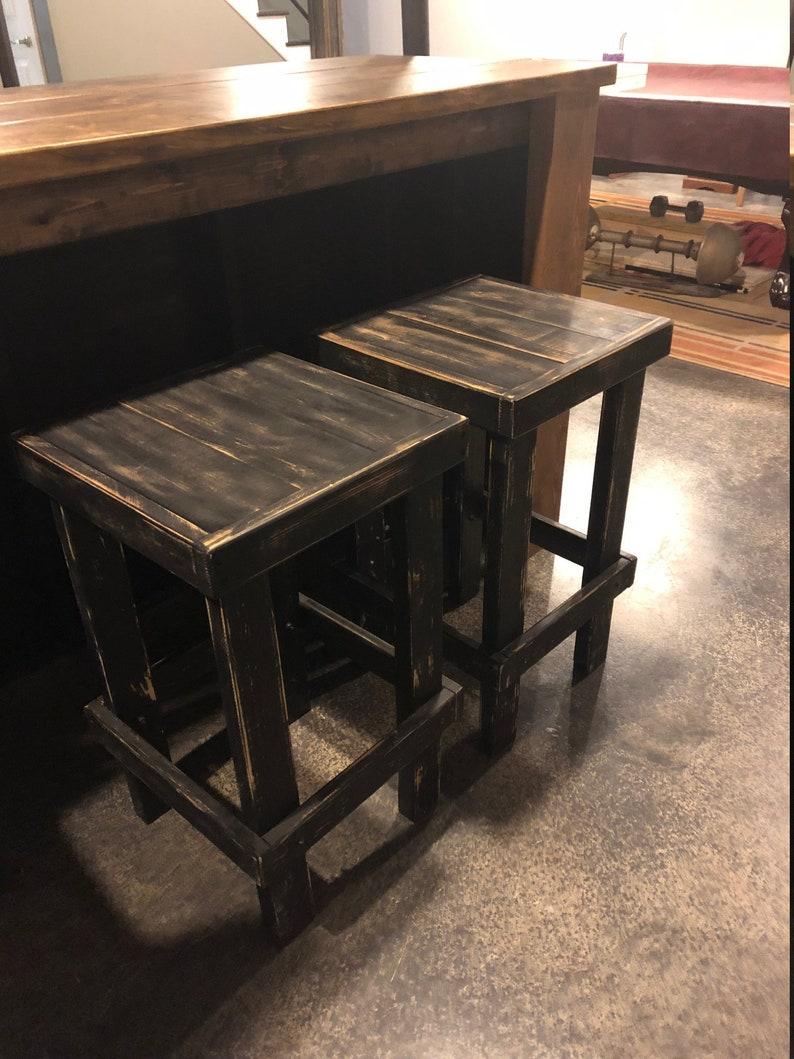 Custom Built Wood Barstool  Counter Stool