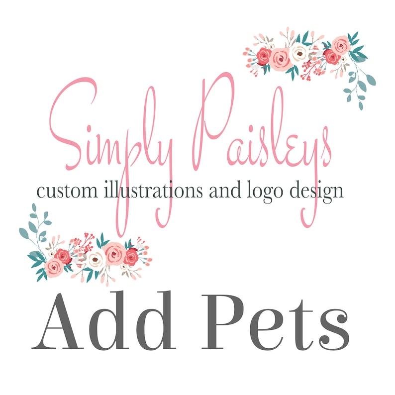 ADD Pets to any custom portrait image 0