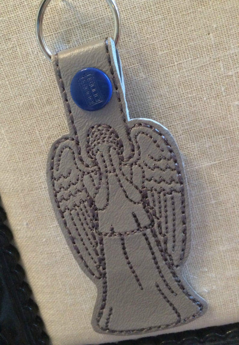 Weeping Angel Snap Tab Keychain