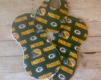 Green Bay Packers Infant Bib/Burp Cloth Set