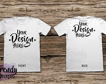 Download Free White T Shirt Mockup, Shirt , Mockup, White Shirt , TShirt , Unisex T-Shirt Mockup, Wood background, T-Shirt Mock Up PSD Template