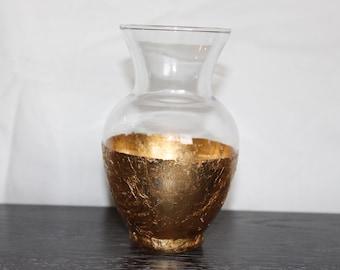 Gold Leaf Vase (Spring Vase with Tapered Neck)
