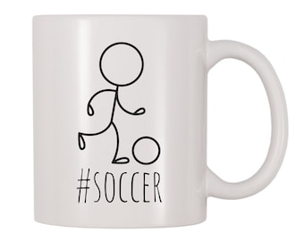 b00f5fbeb Hashtag Soccer Mug, Sports, Soccer, Playing, Game, Field, Goalie Themed  Cup, Gift For Soccer Players, Lovers, Fans, Teams, Coaches