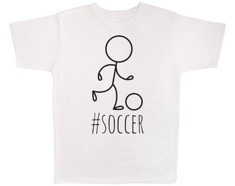 e6ffefcb8 Hashtag Soccer T-shirt, Sports, Soccer, Playing, Game, Field, Goalie Themed  Tee Shirt, Gift For Soccer Players, Lovers, Fans, Teams, Coaches