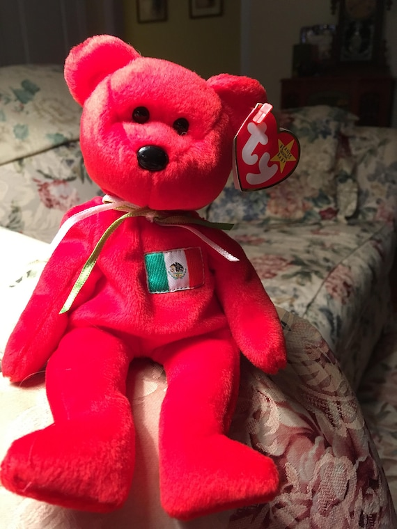 443e0c8a2f9 Osito Bear Mexico Retired Ty Beanie Baby