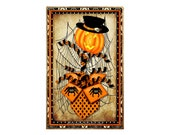 Happy Halloween, Pumpkin, Spiders, 6.5 quot x10 quot Metal Wreath Sign, Jack o 39 lantern, Spider Web, Jack in the Box, Affordable Wreath Signs