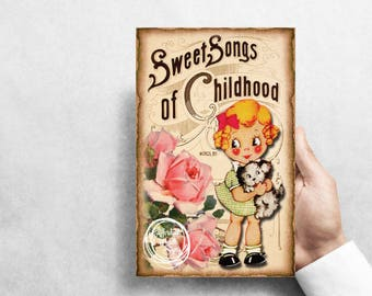 """Sweet Song, Puppy! 7""""X10"""" Metal Wreath Sign #G1118"""