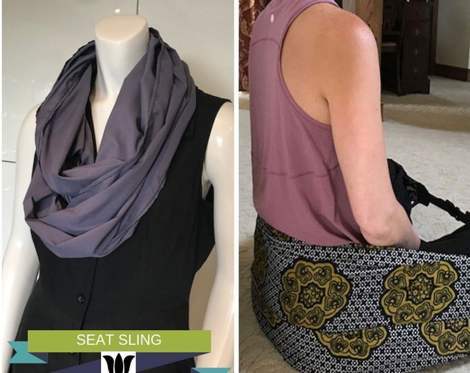 Infinity Scarf Converts to Meditation Seat, Purple, Yoga, Meditation, Back Support while in Crossed Leg Sitting, Workshops, Retreats