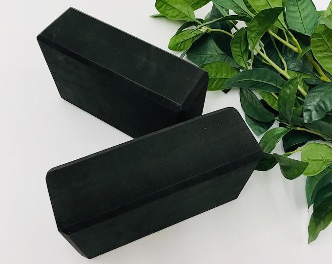 "Yoga Block   Brick, Poly Foam, 3"" x 6"" x 9""   2 Block Set   Home Yoga Practice   Yoga Studio Practice Prop   High Density Foam   Color Black"