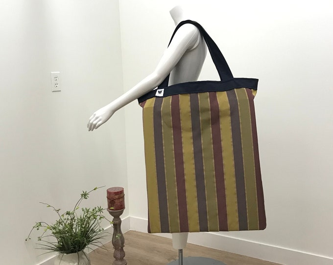 Yoga Tote | Extra Large Yoga Equipment Bag | Yoga Prop Bag | Multi Colour Stripe | Yoga Storage Bag | Yoga Prop Organizer | Large Yoga Bag