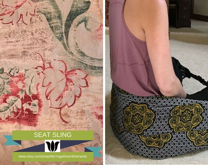 Scarf Converts to a Meditation Seat, Bronze / Brown, Lightweight, Washable Fabric, Back Support for Floor / Ground Sitting, Yoga, Meditation
