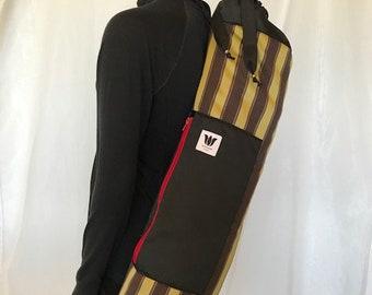 Yoga Mat Bag, Side Load Zipper, Top Load, Zip Closure, Drawstring, Zip Side Pocket, Adjustable Backpack Straps, High Quality, Jewel Colors