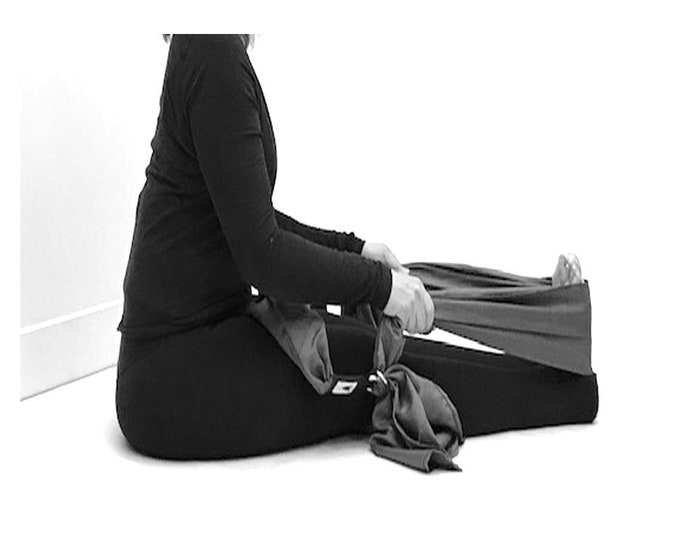 Yoga Strap, Yoga Practice Prop, Stop the slipping, Easier to hold wide fabric strap. Add more comfort to your yoga practice. Made in Canada