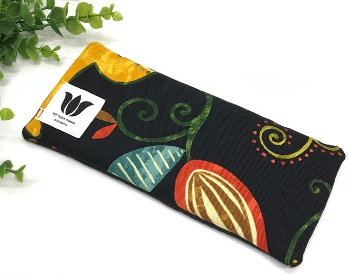 Black Luxury Eye Pillow | Eye Shade | Natural Fill | Yoga Prop | Yoga Gift Idea | Cold / Warm Pack | UNSCENTED | Natural Bamboo & Canvas