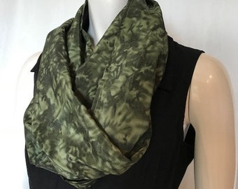 Scarf to Meditation Seat, Meditation Seat, Back Support, Yoga, Seat to Go, Travel, Festivals, Concerts, Retreat, Hiking, Green Mottled Print