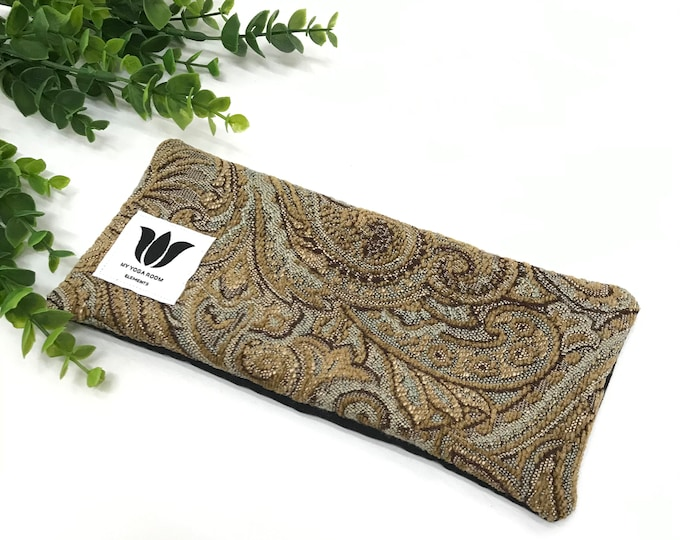 PAISLEY Print, Luxury Eye Pillow / Shade, UNSCENTED, Flax Seed Fill, Warm / Cold Compress, Eye Strain Relief, Natural Pain Relief, Gift Idea