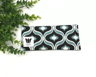 Modern Print Luxury Eye Pillow | Eye Shade | Natural Fill | Yoga Prop | Yoga Gift Idea |  UNSCENTED | Natural Bamboo & Canvas | Turquoise