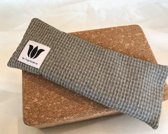 Herringbone Suit Style, Eye Pillow, Eye Shade, Flax Seed, Organic Fill, Eye Compress, Warm / Cold, Eye Therapy, Headache Relief, UNSCENTED