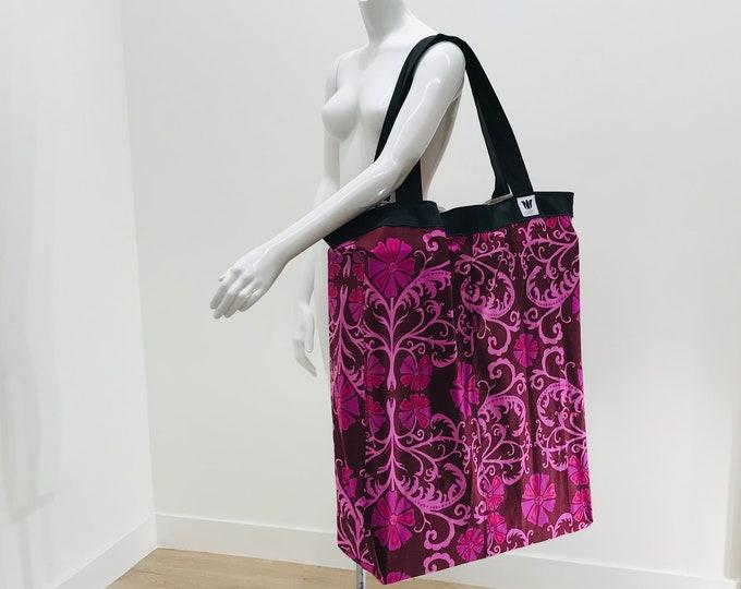 Yoga Bag | Extra Large Yoga Bag | Pink Floral | Yoga Tote | Yoga Equipment Bag | Over-sized Bag | Light Weight | Washable | Yoga Prop Bag