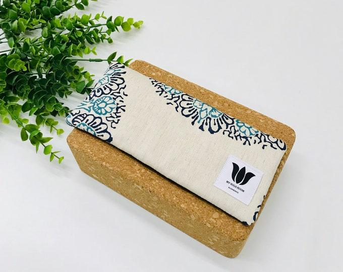 Boho Style Yoga Eye Pillow | Unscented Eye Pillow | Blue Mandala Print | Natural Filling | Yoga Prop | Yoga Gift Idea | Gift for Yogi