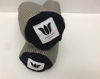 Mini Bolsters, Dark Blue, Yoga Prop, Knee Cushion, Body Pillow, Washable Cover, Removeable Insert, Natural Organic Fill, Yin Yoga Support