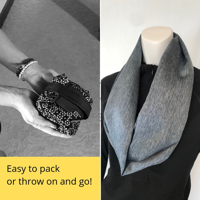 Scarf Converts to a Meditation Seat Back Support for Floor  Ground Sitting Bronze  Brown Washable Fabric Meditation Yoga Lightweight