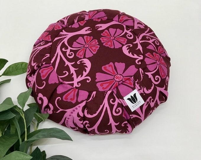 Pink Meditation Seat, Yoga Cushion, Yoga Pillow, Zafu, Made in Canada, Meditation Cushion, Meditation Pillow, Meditation Practice Prop