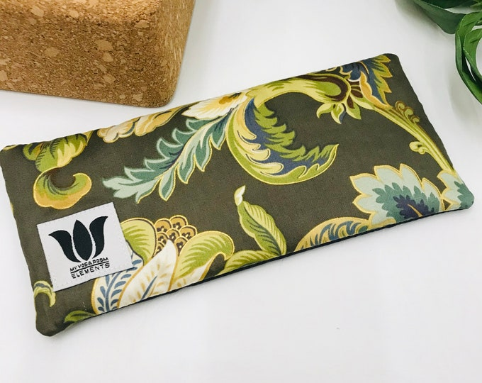 Luxury Eye Pillow | Unscented Eye Bag | Organic Flax Seed | Cotton & Bamboo | Yoga Prop | Yoga Gift | Natural Eye Relief | Cool or Warm Pack