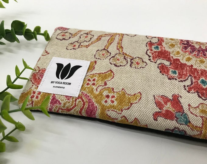 BOHO Style | Luxury Eye Pillow | Unscented Eye Bag | Natural Flax Seed | Yoga Prop | Relaxing Spa Gift | Eye Relief | Cool or Warm Pack