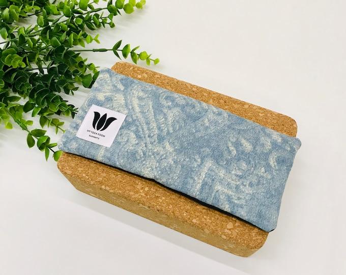 Yoga Eye Pillow | Unscented Eye Pillow | Blue Sky Print | Natural Filling | Yoga Prop | Yoga Gift Idea | Gift for Yogi | Luxury Eye Pillow
