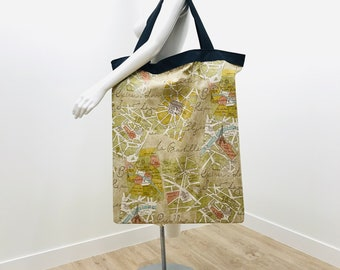 Yoga Bag | Extra Large Yoga Bag | Europe Map | Yoga Tote | Yoga Equipment Bag | Over-sized Bag | Light Weight | Washable | Yoga Prop Bag
