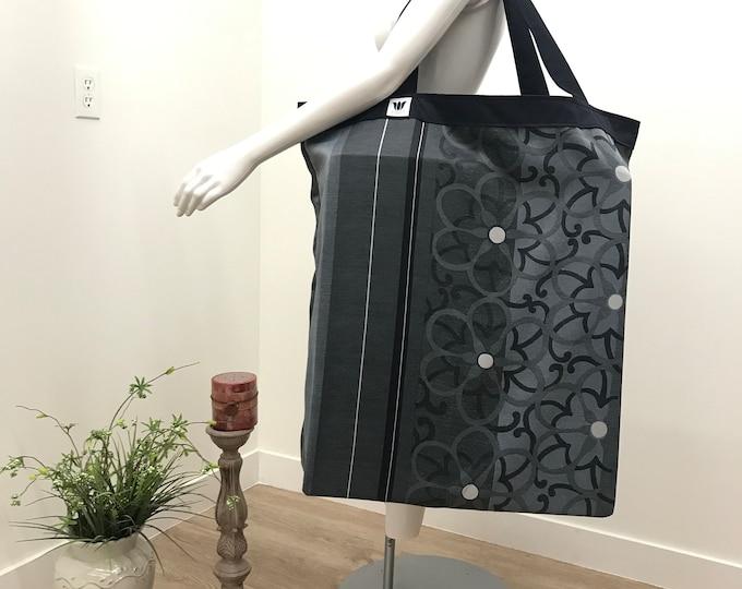 Yoga Tote | Large Equipment Bag | Yoga Mat Bag | Blue Yoga Bag | Yoga Equipment Storage | Quality Construction | Washable Fabric | Prop Bag