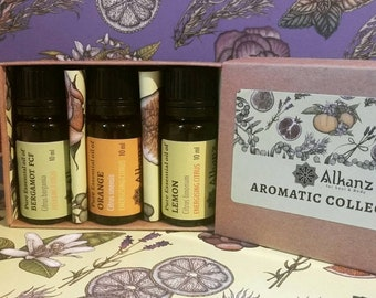 Citrus essential oil collection for Positive Emotions