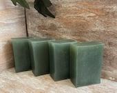 Eucalyptus Peppermint Soap Bars, All natural glycerin green Full size soap bars. Gift for mom, him, spouse, her women birthday, Christmas