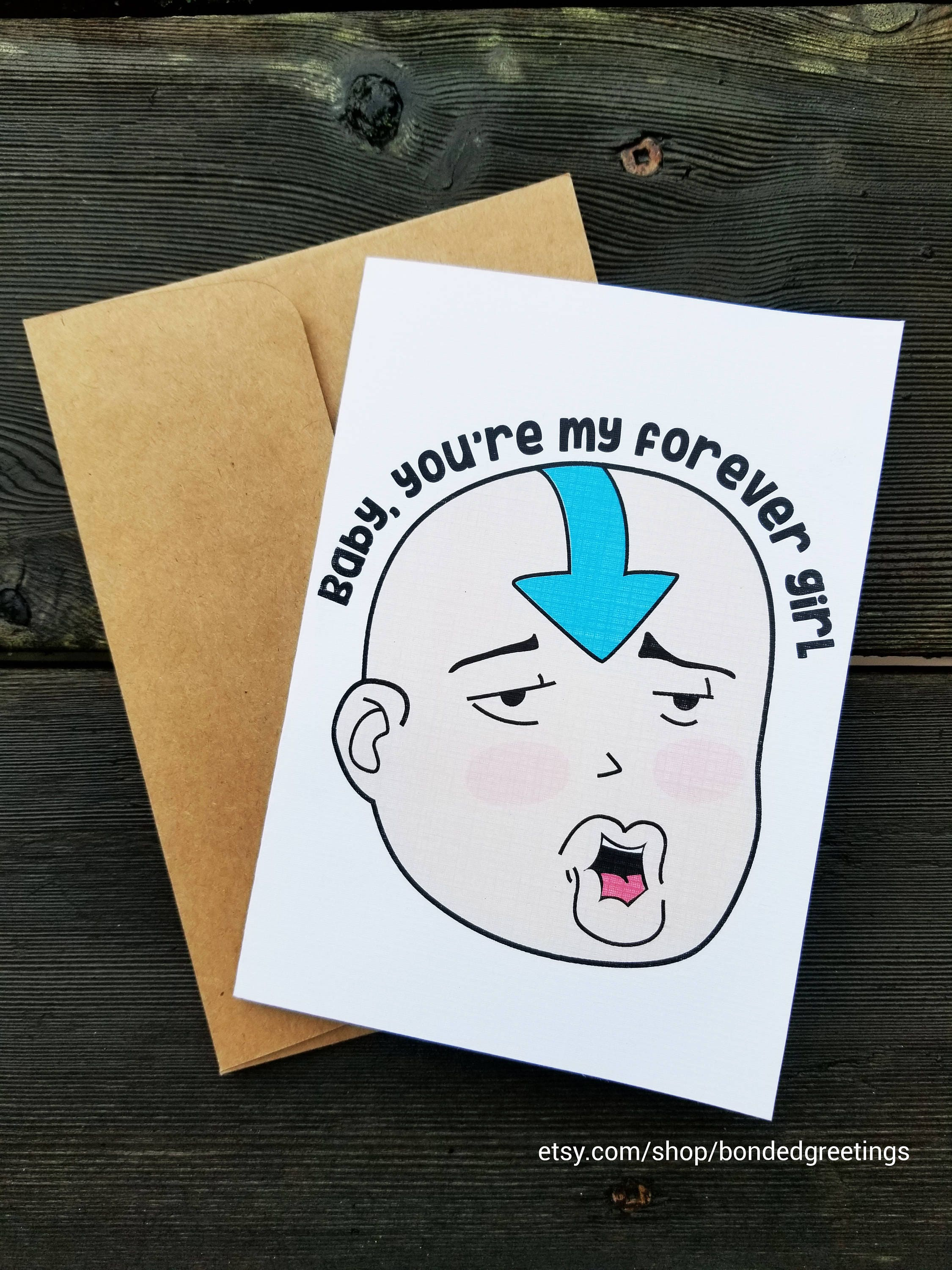 Avatar The Last Airbender Valentines Day Greeting Card Etsy