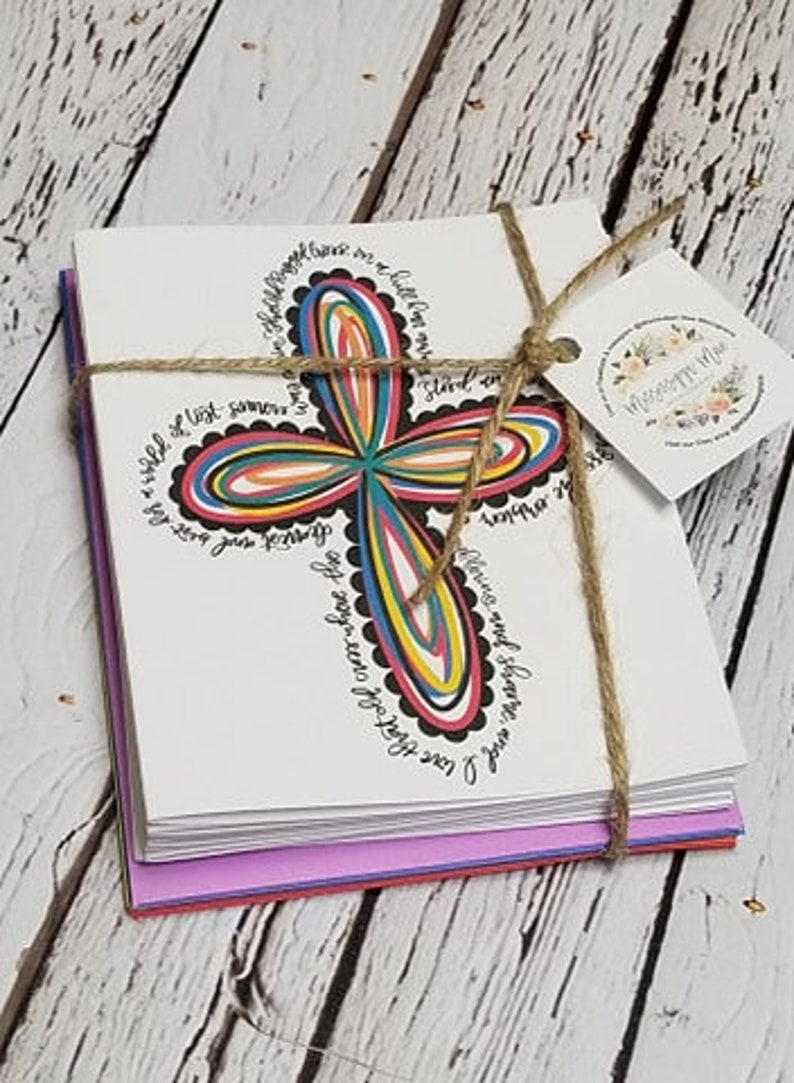 Stationery Free Shipping Old Rugged Cross Note Cards Pack of 12