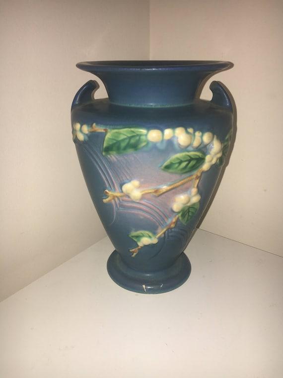 Vintage Roseville Snowberry Vase Etsy