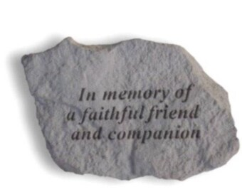 In memory of a faithful friend and companion.