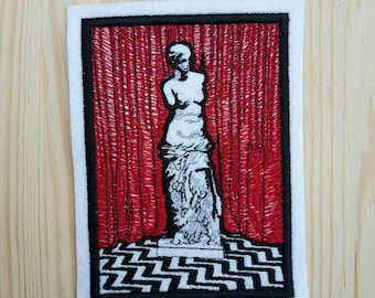 Patch Tribute inspired to The Red Room - The waiting Room - Twin Peaks - David Lynch - Laura Palmer - Dale Cooper - FBI - Angelo Badalamenti