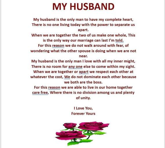My Husband Digital Download Poem Etsy Love poems by:(maya angelou)my favorites. my husband digital download poem