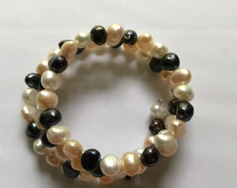 6-8mm Freshwater pearl wrap beacelet