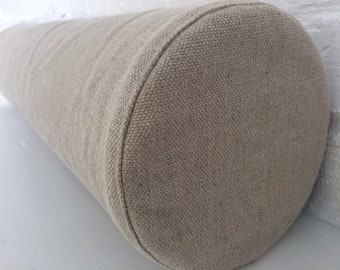 Bolster Linen Pillowcase - Daybed Couch Sofa bolster cover - Made of Heavy  Weight Linen - With a Hidden Zipper Closure bfc8170ec0