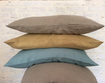 100% linen pillow case with hidden zipper - Natural pillow cover - Standard King Euro Body Toddler pillowcase