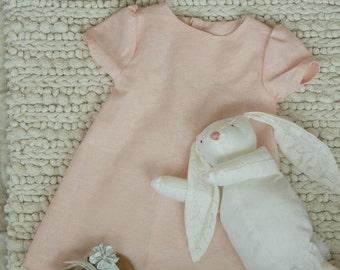 Blush Pink Linen Summer Dress