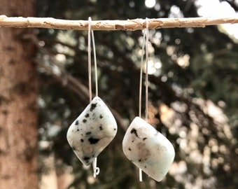 Sesame Jasper Drop Earrings