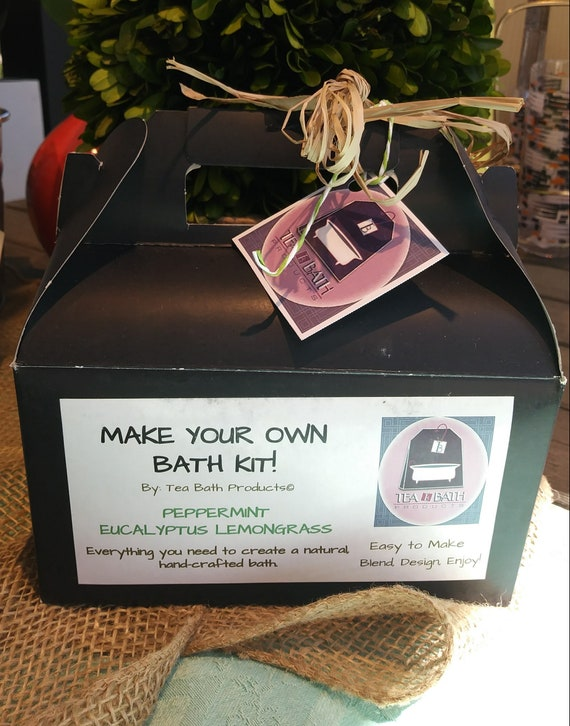 Make Your own bath! Peppermint Lemongrass, Eucalyptus, Dead Sea Salt